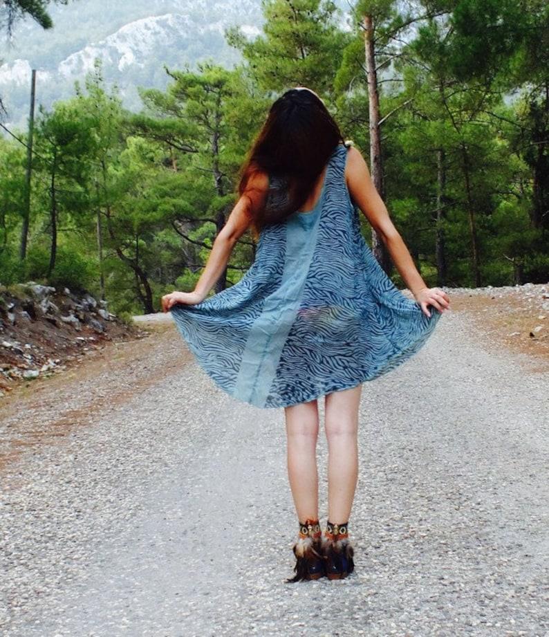 Blue top loose top loose dress boho top boho dress blue dress gypsy top summer tunics bohemian top blue summer dress loose tunic