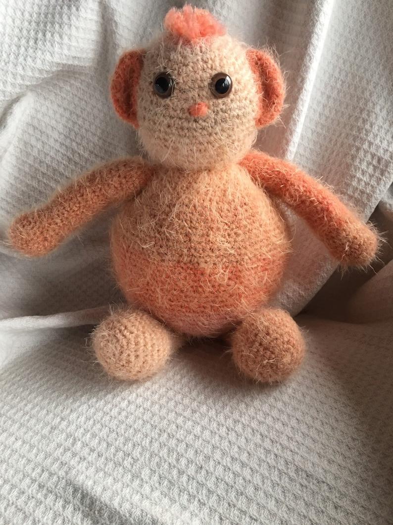 Crochet teddy bear overfed Fred FREE SHIPPING
