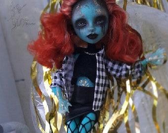 Lorna McNessie OOAK repaint custom monser hlgh doll