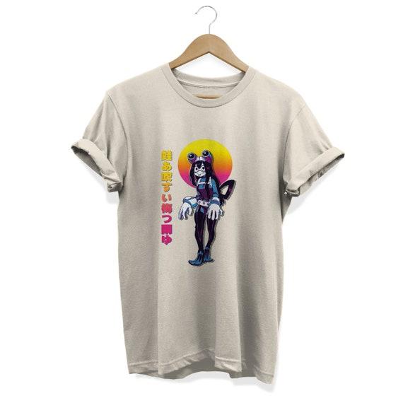 My Hero Academia Tsuyu Asui T Shirt Anime Tee Boku No Hero Academia Bnha Anime Girl Synthwave Vaporwave Aesthetic Shirt Unisex