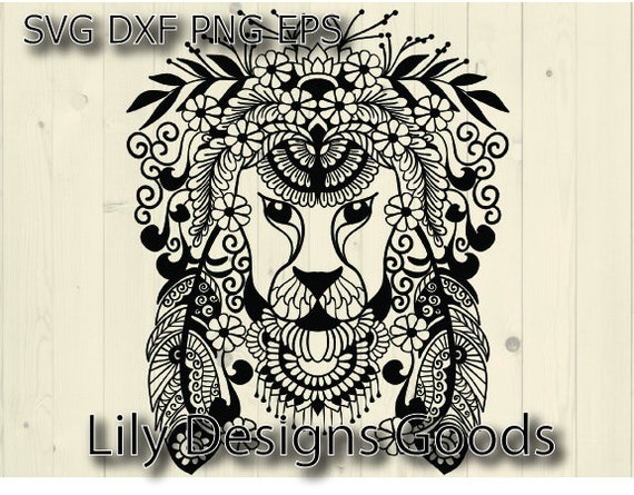 Lion Svg Lion Clipart Svg Lion Cut File Lion Head Lion Etsy