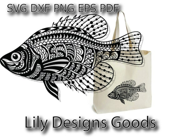 Download Fish Svg Cricut Crappie Svg Fishing Clipart Fishing Etsy