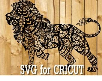 Download Lion zentangle | Etsy