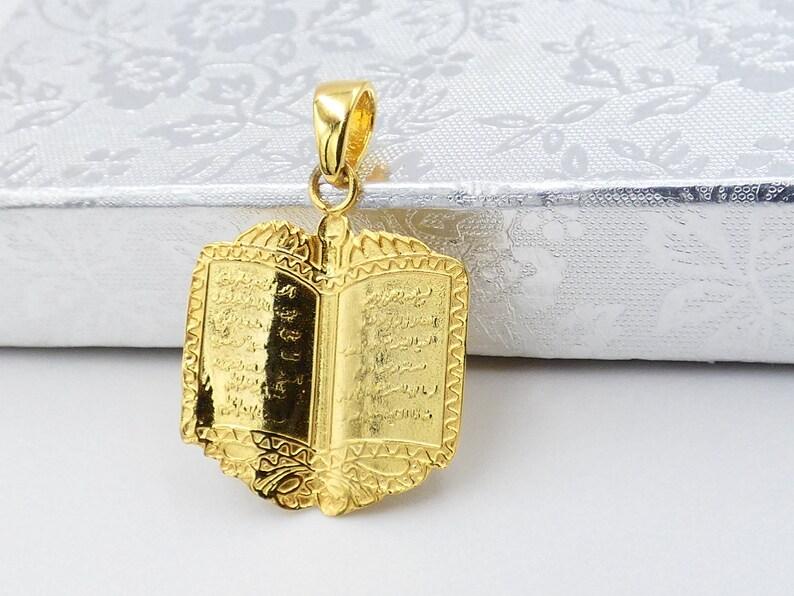 0c9464350823 Solid Gold 9k10k14k18k Ayatul Kursi Muslim Arabic Pendant