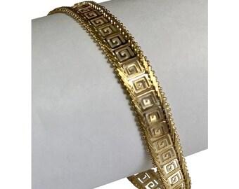 14 K Yellow Gold Greek Key Bracelet