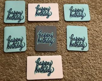 "Set of 7 ""Happy Birthday"" Cards"