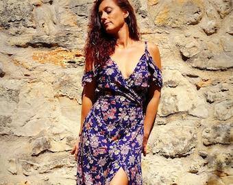 elegant dress, flower, romantic