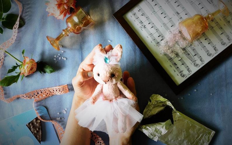 Teddy bunny Anabel soft toy rabbits Teddy bunny Gift for girl Interior toy Teddy Bunny handmade