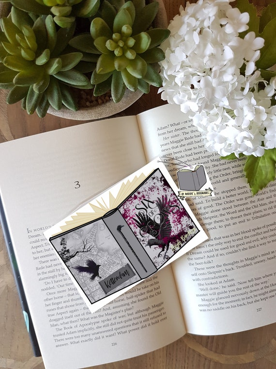 SIX of CROWS - book shaped bookmark - Leigh Bardugo - quote- Book Lover  Gift - Literary Gift -Fantasy Book Quotes -No Mourners No Funeral -