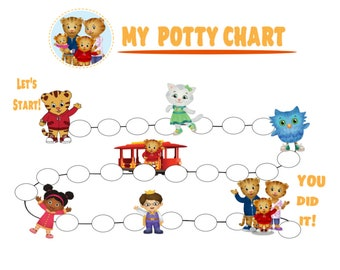 Potty Chart Svg Etsy