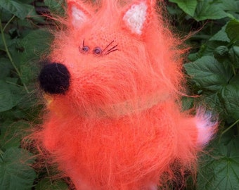 Fox. toy knitted, souvenir, gift