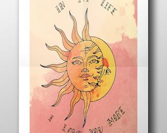 In My Life Print, Printable Wall Art, Digital Print