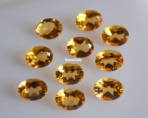 AAA Quality 15 Piece Natural Citrine 6x8 MM Oval Cut Loose Gemstone