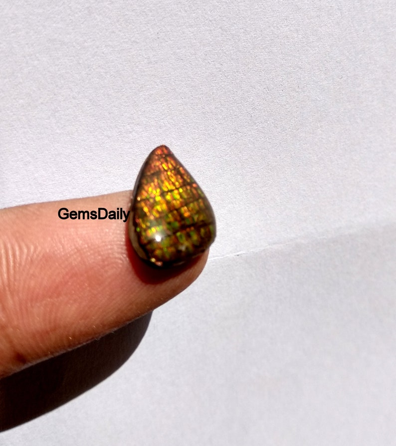 10x14 MM Natural Ammolite Fossil Gemstone-Iridescent Matrix Top Quality Cabochons 100 /% Natural Gemstone For One Piece