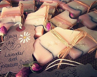 lavender and geranium soap, vegan soap, handcrafted soap, natural soap, inspirational quote tag