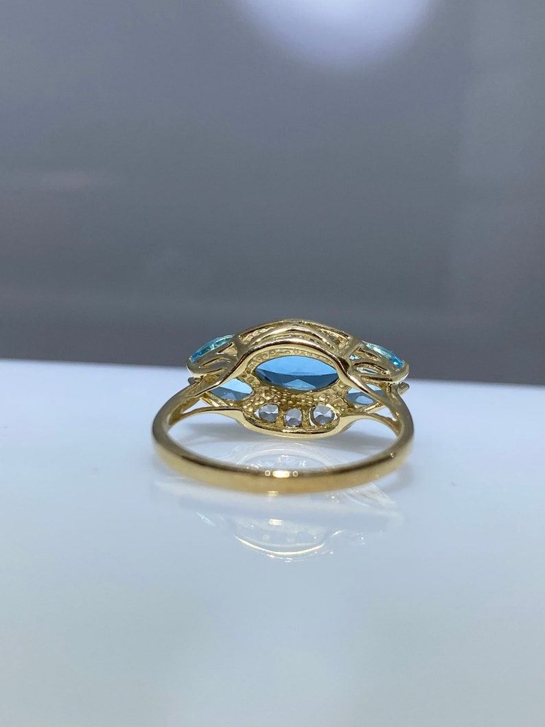 Colored CZ Statement Ring