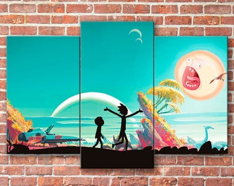 Rick and Morty wall art, Rick and Morty, Morty Smith, Rick and Morty canvas, Rick Sanchez, Rick and Morty print, Rick and Morty art