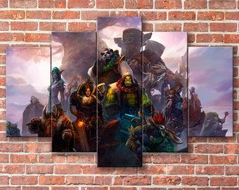 World of Warcraft, WoW, Horde, Alliance, World of Warcraft canvas, WoW canvas, Horde canvas, Alliance canvas, WoW print