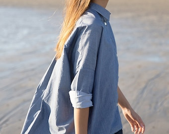 DENIM felt - Oversized lightweight denim shirt