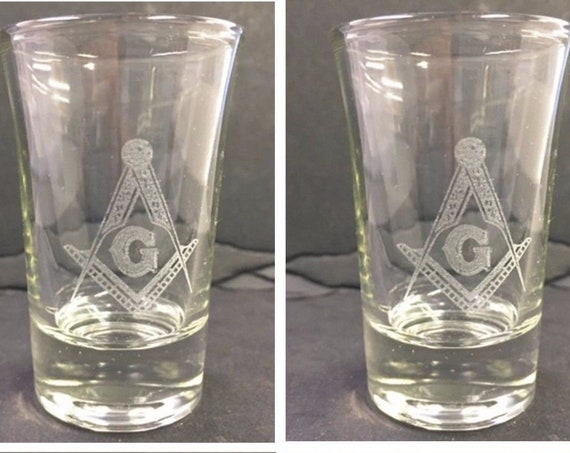 Masonic Shot Glasses ( set of 4 )