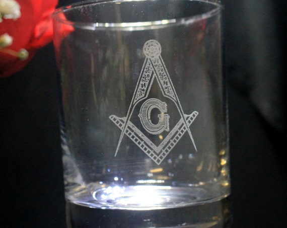 Quantity Order for 20 Masonic 13.5 oz. Double On the Rocks Glasses