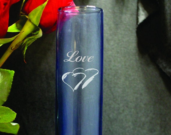 Bud Vase Center Piece (Your Choice of Blue or Clear  (PLEASE READ DESCRIPTION)