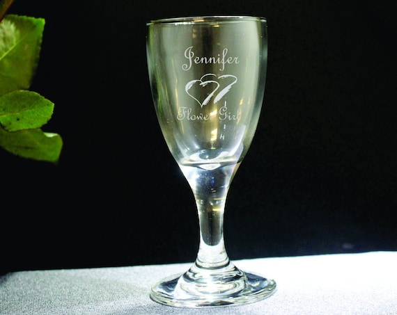 Mini Embassy Toasting Glass for Ring Bearer and Flower Girl( set of 2 ) Ideal for that Special occasions (PLEASE READ DESCRIPTION)