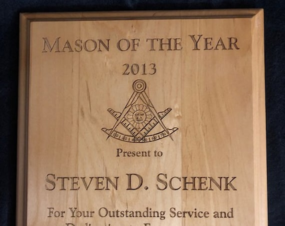 Alderwood Direct Engrave  Plaques