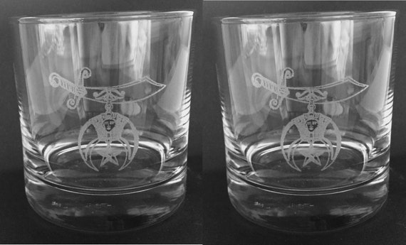 Shrine 13.5 oz. Double On the Rocks Glasses ( set of 2 )