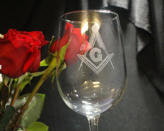 Masonic 16 oz Vina Wine Glass (Please Read Description) (DISCOUNTS AVAILABLE)