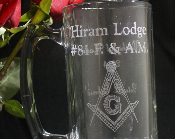 Masonic 25 oz. Personalized Sports Mug (PLEASE READ DESCRIPTION)