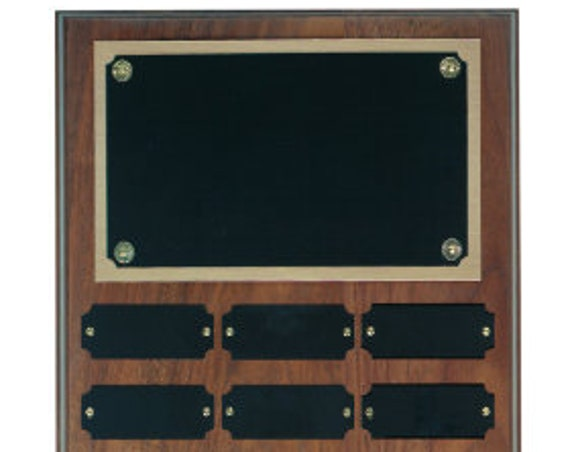 Walnut Perpetual plaque with choice of 12, 18 or 24 plate (PLEASE READ DESCRIPTION)