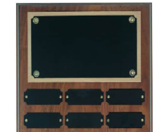 Walnut Perpetual plaque with choice of 12, 18 or 24 plate
