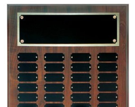 Cherry Finish Perpetual plaque with choice of 36, 45 or 60 plate (PLEASE READ DESCRIPTION)
