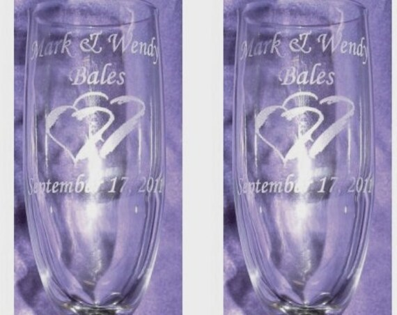 Wedding Charisma Style Laser Engraved Flutes( set of 2 ) Ideal for that Special occasions