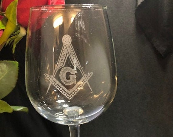 Masonic 16 oz Vina Wine Glasses (Set of 2) (Please Read Description) (DISCOUNTS AVAILABLE)