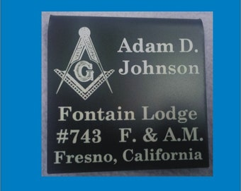 Masonic name badge | Etsy