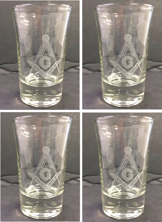 Masonic or Shrine Shot Glasses ( set of 4 )