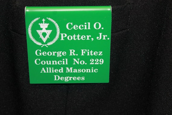 Allied Masonic Degrees  Members over the pocket or Magnetic Badge (PLEASE READ DESCRIPTION) (Discounts Available)