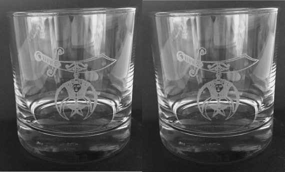 Shrine 10oz. On the Rocks Glasses ( set of 2 )