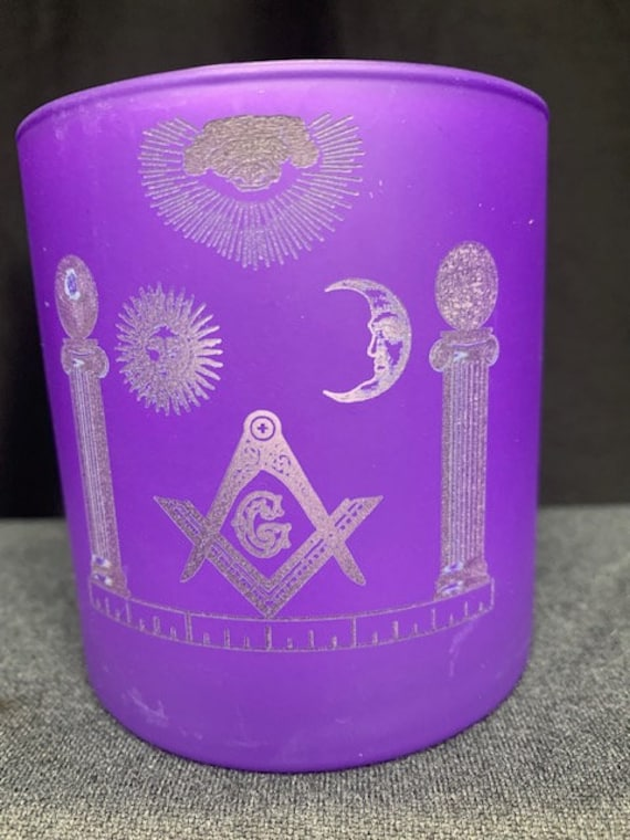 Masonic 12oz. Purple Votive or Candle Holder Glasses Limited Quantity