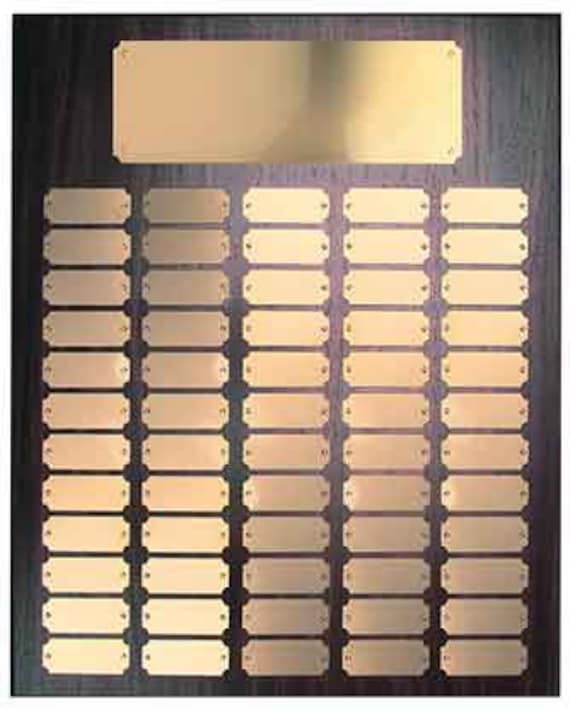 Walnut Finish Perpetual plaque with choice of 60, 84 or 102 plate