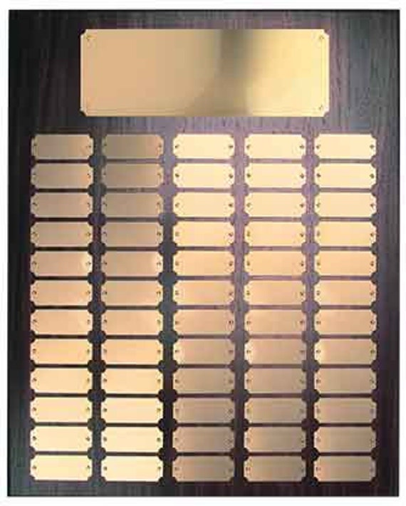 Walnut Finish Perpetual plaque with choice of 60, 84 or 102 plate (PLEASE READ DESCRIPTION)
