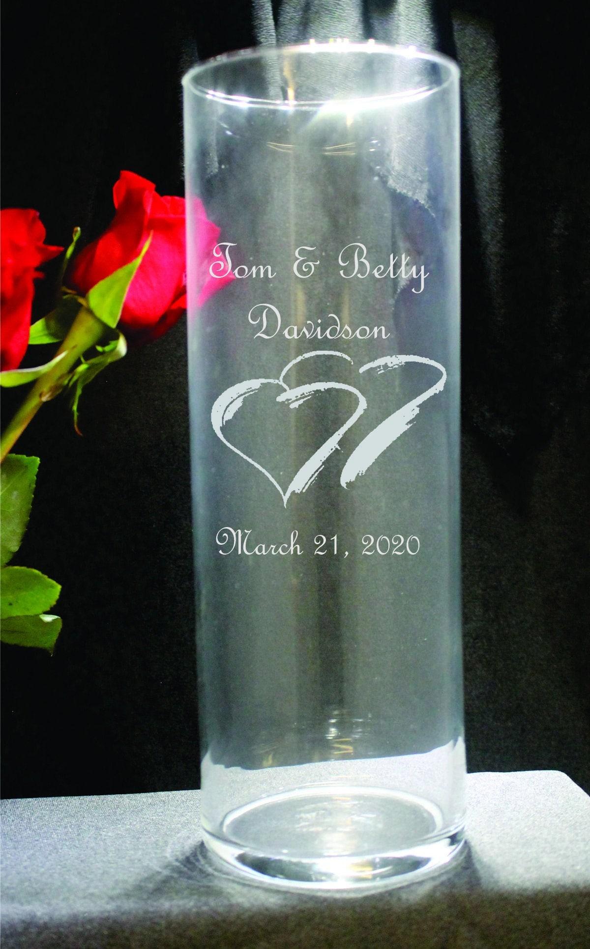 Laser Engraved Glass Vase