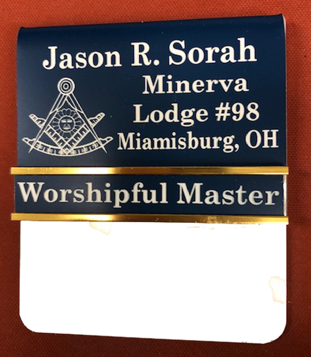 Over Pocket Masonic Officer or Magnetic Badge with