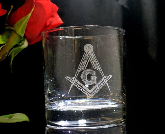 Masonic 11oz. On the Rocks Glasses ( set of 2 )