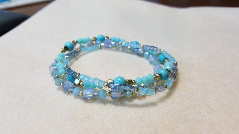 Aquamarine tone bracelet