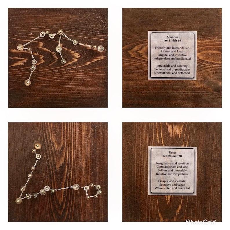Zodiac sign - Astrology art - Astrology home decor - Astrology string art -  Astrology gift - String art - Zodiac - Constellation wall art