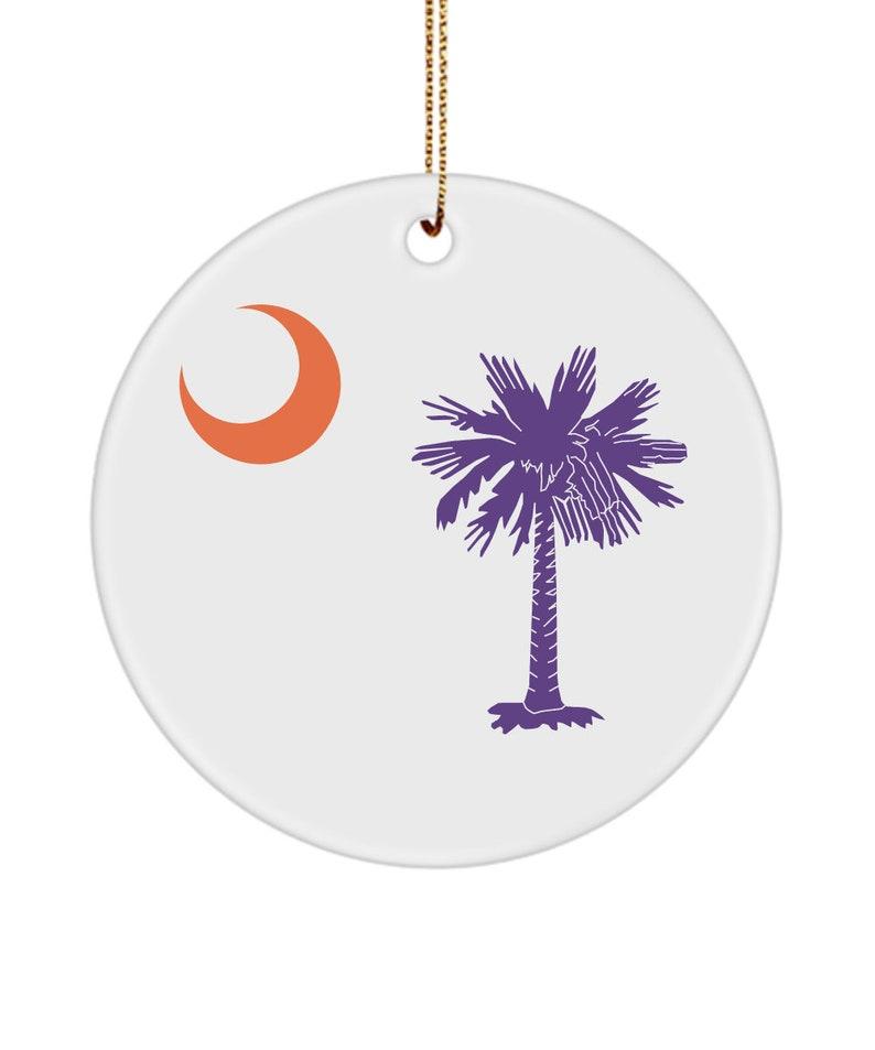 Clemson Christmas Ornament South Carolina Flag Gift for Family CoWorker Graduation