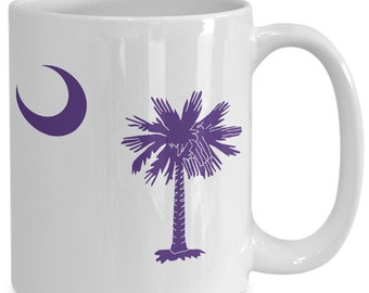 Ships fast - furman, benedict college, columbia College, Converse College South carolina state flag in purple